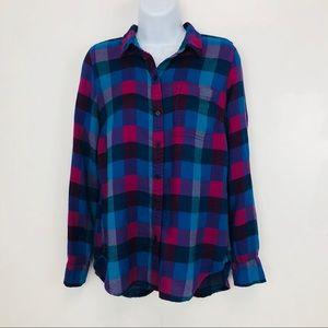Lucky Brand Soft Plaid Shirt sz S